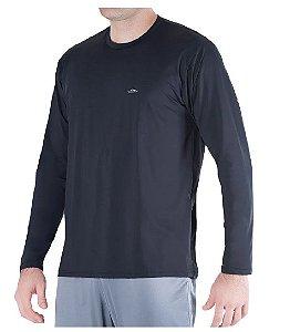 Camiseta Termica Confort Fit Summer Sun UV 50 Preto Tam G