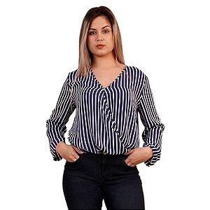 Blusa Maria Valentina Listras Barra Italiana