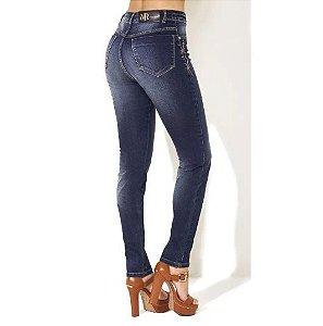Calça Jeans Morena Rosa Cós Baixo Bordado Frente
