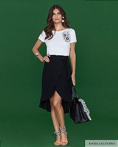 T-Shirt Maria Valentina Estampa Mahalô Flower