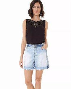 Shorts Maria Valentina Jeans Contraste