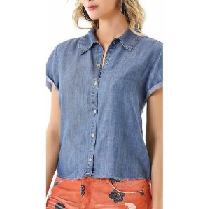 Camisa Zinco Jeans Cropped