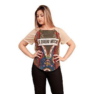 Blusa Zinco Frente Sublimada Estampada Frida
