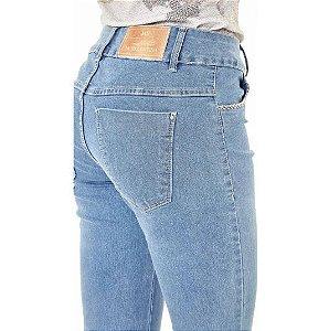 Calça Jeans Maria Valentina M. Julia Detalhe Bordado Bolso Frente