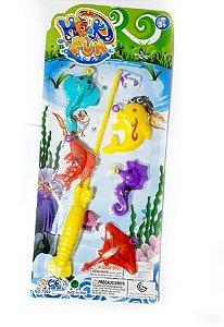 Brinquedo Jogo Infantil Pescaria Pega Peixe Vara De Pesca Infantil Pega Peixe