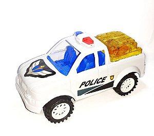 Carrinho Carro de Policia com luz movimenta a Corda