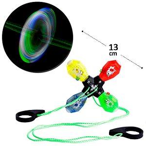Brinquedo Puxa e Gira com Luz  Vai e Vem  Divertido Fidget spinners  Anti Stress Ansiedade
