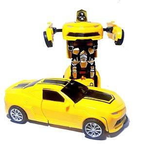 Carro Camaro Amarelo Carrinho Bate e Transformers Robo