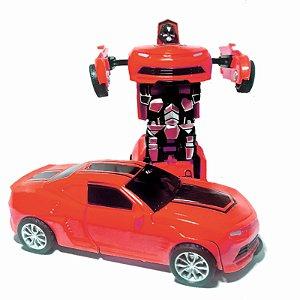 Carro Camaro Vermelho  Carrinho Bate e Transforma em  Robô