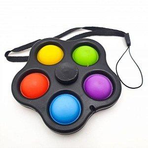 Hand Spinner Brinquedo Pop It Anti Stress Colorido Infantil