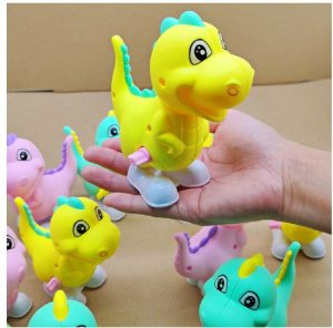 Dinossauro Brinquedo a corda Dino Brinquedos  Dino Baby rosa