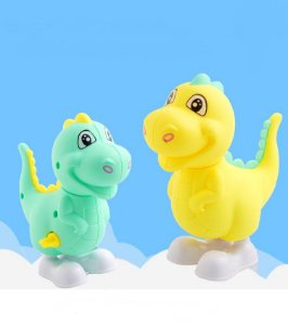 Dinossauro Brinquedo a corda Dino Brinquedos Dino Baby Verde