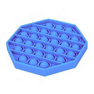 Pop It Fidget Toys Brinquedo Anti Stress Original Com Selo Inmetro Pentágono Azul