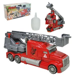 Caminhão de Bombeiro Transformers com Escada Jato de Agua
