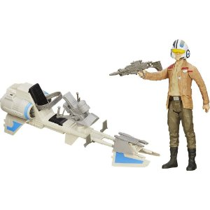 Star Wars Episodio 7 Poe Dameron Veículo Speeder Bike Star