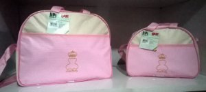 Kit Bolsa Maternidade - Lipi Baby Rosa e Bege
