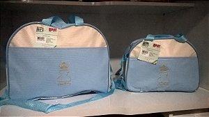 Kit Bolsa Maternidade - Lipi Baby Azul Bebê e Bege