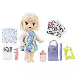 Boneca Baby Alive Hasbro Pequena Artista Loira