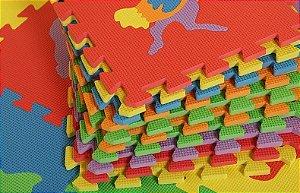 Tapete Eva Educativo Infantil colorido Emborrachado animais