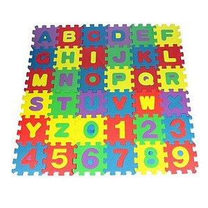 36 pcs Brinquedos Puzzle Números Do Alfabeto Da Espuma Esteira do Jogo De  Crianças Piso Tapete  Para Crianças 12x12