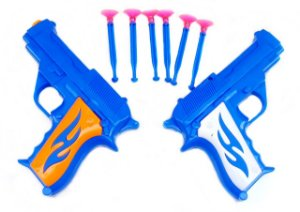 Pistola Lançador De Dardos  Kit 2 Armas De Brinquedo