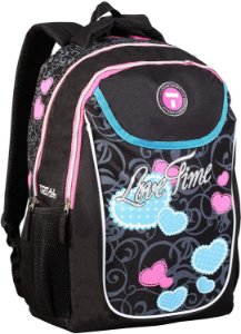 Mochila Escolar Feminina Costas Love Time  Authentic Bags