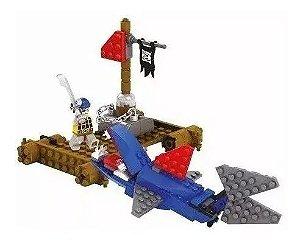 Super Bloco De Montar Ataque Pirata 97 Peças Dm Toys