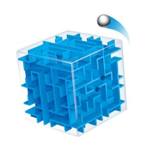 Cubo Mágico Labirinto 3d Puzzle Educativo - azul
