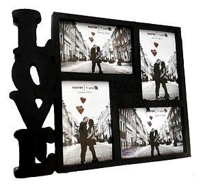 Porta Retrato Love Ou Painel Para 4 Fotos Prestige