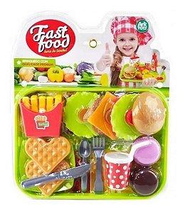 Hora Do Lanche Fast Food Comida De Brinquedo 16 PEÇAS