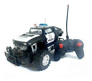 Carrinho De Controle Remoto Policia Truck 7 Funções