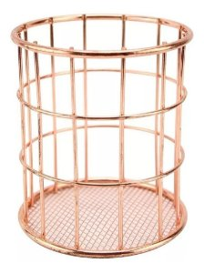 Porta Talher Pincel Organizador Aramado Bronze Ck2175 Clink