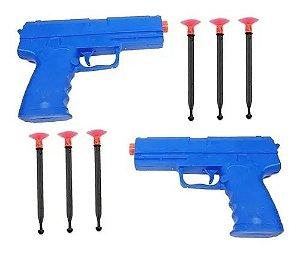 2 Pistola Lançador De Dardos Arma De Brinquedo - 6 Dardos