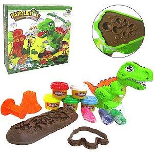Kit Massinha de modelar dinossauro rex 10peças