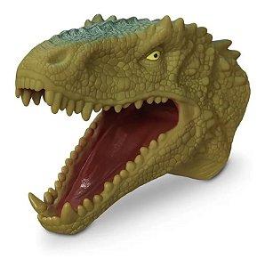 Fantoche Dinossauro Mao Rex Dino Borracha Silicone Cabeça