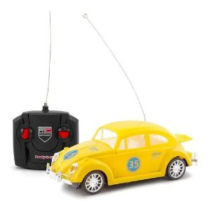 Carro Carrinho De Controle Remoto Fusca Retro Beetle