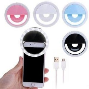 Anel De Led Luz Para Selfie Ring Light Flash Celular Iphone Galaxy Xperia Preto