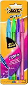 Caneta esferográfica 1.2mm 4 cores Fashion Vivas kit 4 Canetas