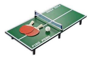 Mini Mesa Conjunto De Tênis De Madeira Dobrável Ping Pong