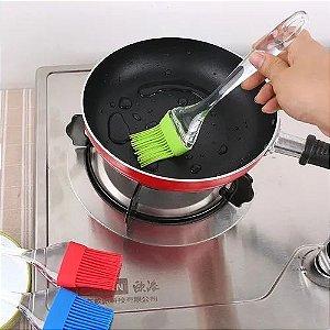 Pincel de Silicone Utensílio de Confeitaria e Culinária Para Untar 22 cm