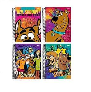 Kit 4 Caderno Scooby-doo Espiral Univ 96 Folhas Capa Dura