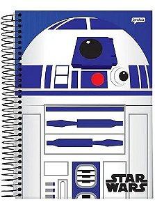 Caderno  Star Wars R2-D2  10 matérias Capa Dura Universitário Espiral   200 folhas Jandaia Promoção