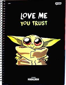 Caderno Bay Yoda 1 matéria   96 folhas Espiral Star Wars
