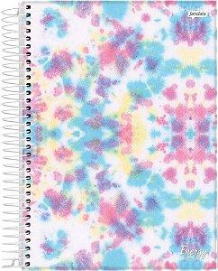 Caderno tie dye Espiral 1 Matéria Capa Dura Original
