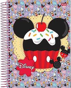 Caderno Universitário Capa Dura Espiral 1 Matéria  96 Folhas Disney Mickey Minnie