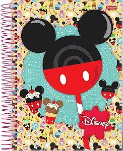Caderno 1 Matéria 96 Fls Capa Dura Disney Mickey Minnei