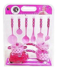 Kit Cozinha Infantil Com Fogão Panelas E Acessórios