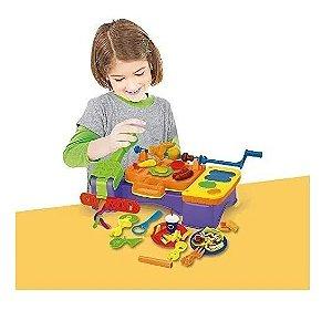 Massinha De Modelar Modele E Brinque Lanches Dm Toys