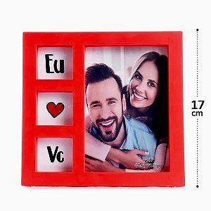 Porta Retrato 10x15 de Plastico Eu Amo Voce