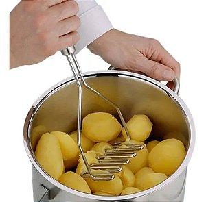 Espremedor de Aço Inoxidável Ondulado de Batatas/Frutas/Legumes para Cozinha